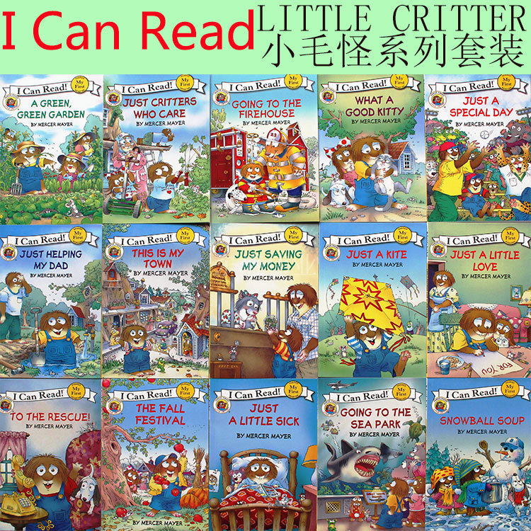 Children's English Stories, Books, Little Hairy, Little Monsters, English Picture Books, Volume 15, CD Coloring Books For Kids