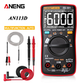 ANENG AN113D Digital Multimeter 6000 counts electrical meter transistor tester Auto Rang AC/DC voltage process calibrator|Multimeters| |  -