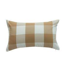 European style plaid coffee cushion cover 45x45cm 30x50cm without inner square rectangle car seat use pillow covers X114