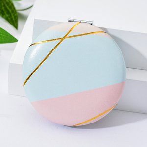 Image 5 - Vicney 2019 New Double Side Portable Mini Makeup Mirror Fashion Temperament Foldable Cosmetic Compact Mirror For Women Gifts