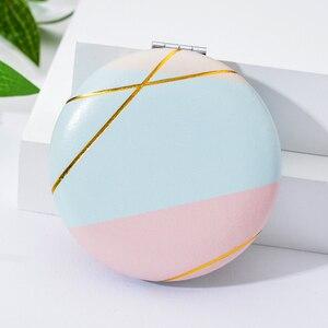 Image 5 - Vicney 2019 חדש זוגי צד נייד מיני איפור מראה אופנה טמפרמנט מתקפל קוסמטי קומפקטי מראה לנשים מתנות