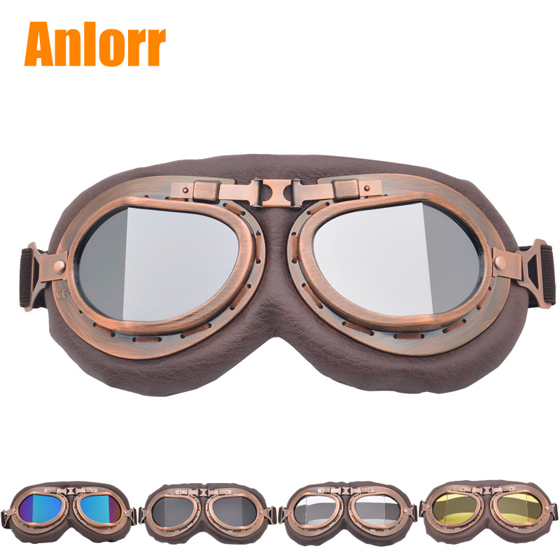 Harley Goggles Motorcycle Riding Eye-protection Goggles Retro Classic Glasses Bicycle Glass Sand Karting Helmet Glasses