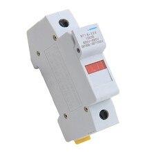RT18-32X AC 32A 1 полюс 10x38 мм DIN рейку держатель предохранителя основа