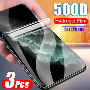 3Pcs Hydrogel Film Full Cover For IPhone XR X XS 12 11 Pro Max Protector Film For IPhone 8 7 6 6s Plus Protector Film No Glass(China)