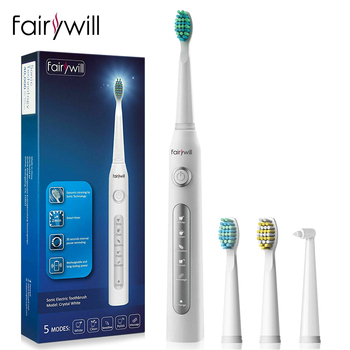 Electric Toothbrush FW507 Waterproof Timer Brush 5 Mode USB Charger Rechargeable Sonic Electric Toothbrush with 3 Brush Heads couple toothbrush usb sonic electric toothbrush ultra sonic toothbrush rechargeable charging with 4 heads pink blue black color