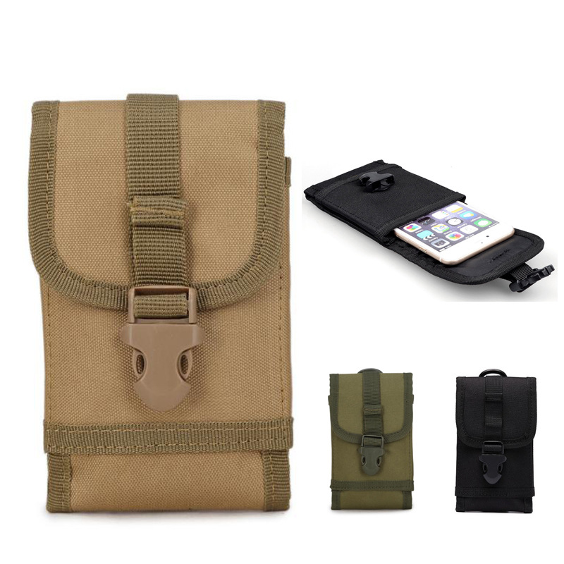 5.5-Inch Army Fans Tactical Mobile Phone Bag Nylon Outdoor Mollo Sports Pannier Bag Multi-functional Big Screen Mobile Phone Bag