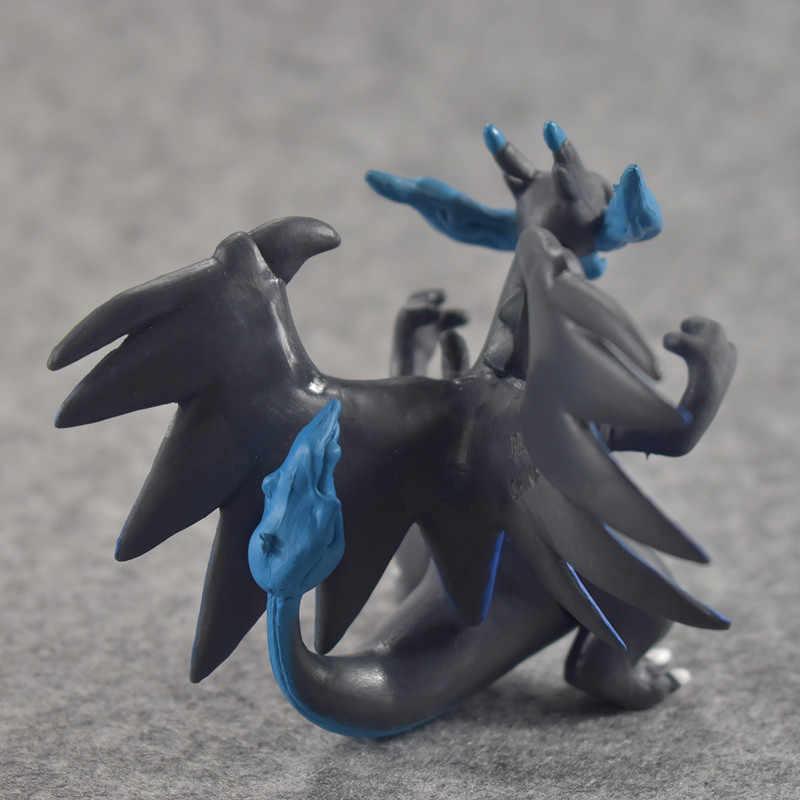 6-8Cm Kartun Charizard Aggron Mewtwo Dragonite Ivysaur Venusaur Charmeleon Pikachu Ukuran Besar Pokemons Angka Mainan