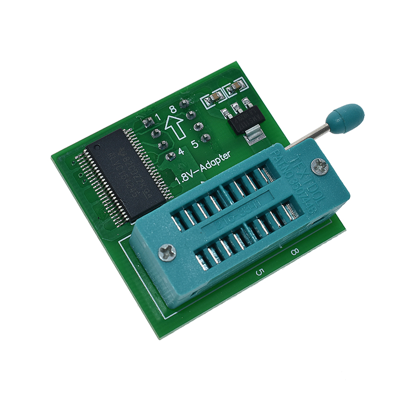 <font><b>1.8V</b></font> SPI Flash SOP8 DIP8 W25 MX25 <font><b>adapter</b></font> for motherboard <font><b>1.8V</b></font> use on programmers TL866CS TL866A EZP2010 EZP2013 CH341 image