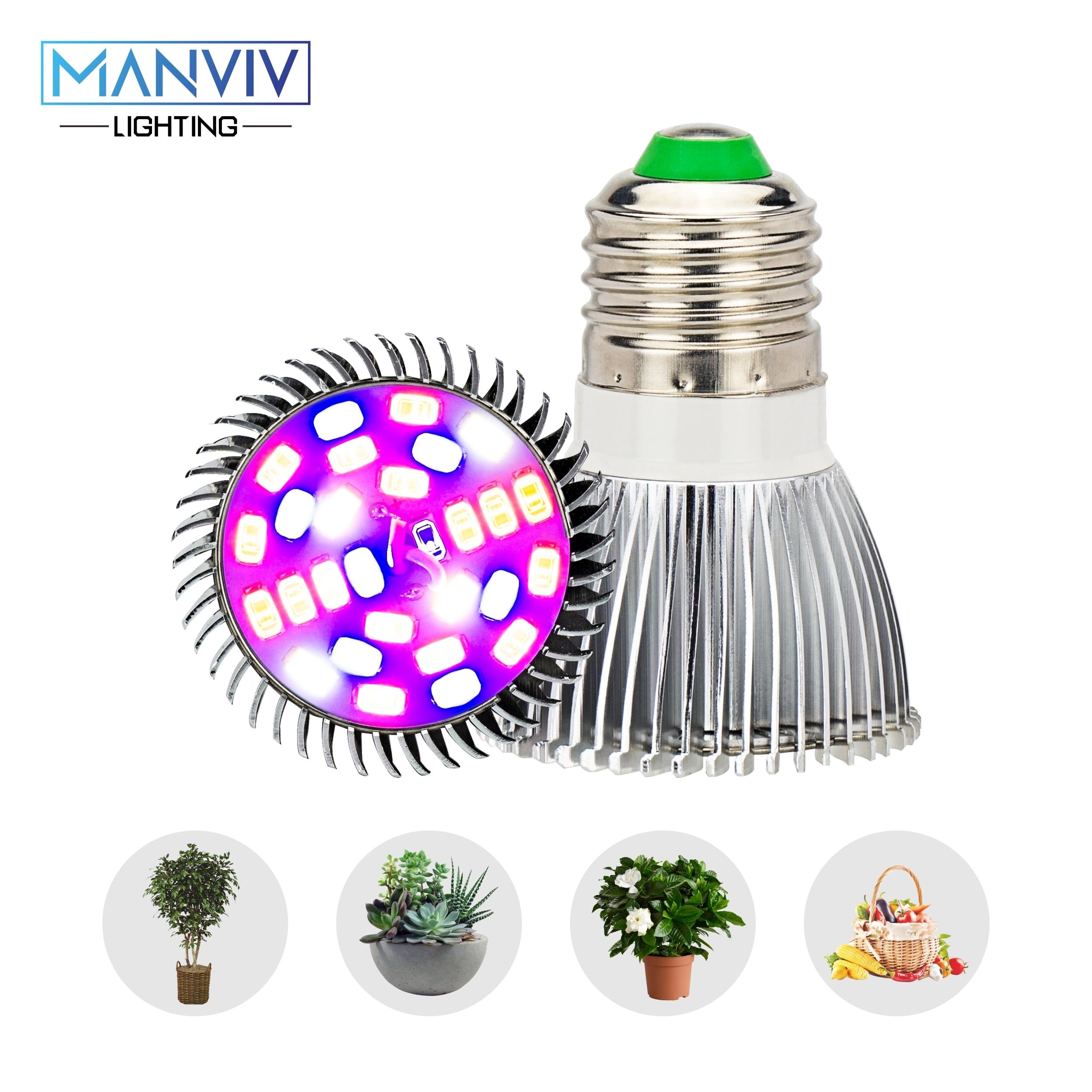 LED Grow Lamp 5W 10W 30W 50W 80W 85-265V Full Spectrum E27 Grow Light Bulb UV IR DIY For Garden Plants Flower Hydroponics Growth