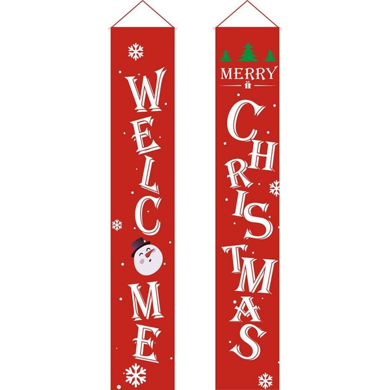 Веселый Рождественский баннер, рождественское крыльцо, камин, настенные вывески, флаг для рождественских украшений, наружные, внутренние