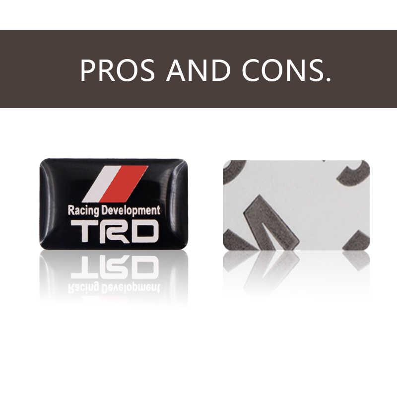 Accesorios para coche con diseño de placa decorativa pequeña con tapa de cubo y volante para Toyota CROWN COROLLA REIZ TRD Racing LOGO