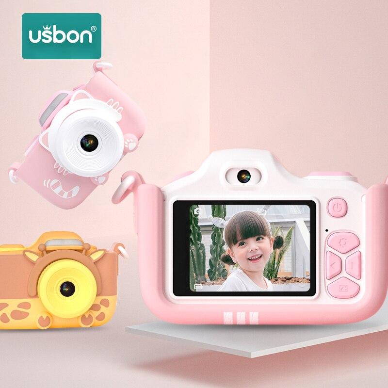 Usbon Child Kids Camera Digital Toy Birthday Gift Multilingual Magic 24 Million Pixel 2-inch LCD HD Mini Photo Photography Video