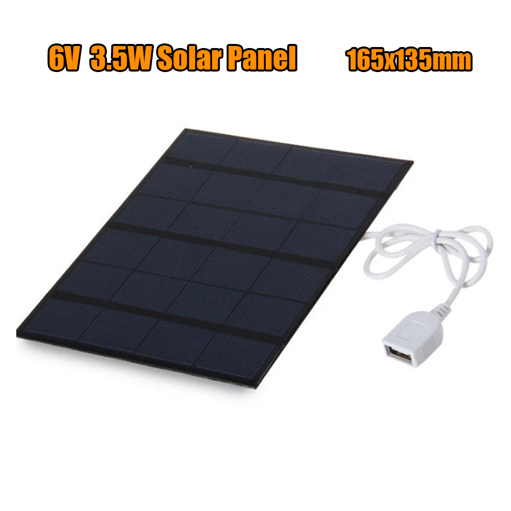 Iphone charger 3.5W Solar Charger Polycrystalline Solar Cell Solar Panel USB Solar Mobile Charger For Power Bank