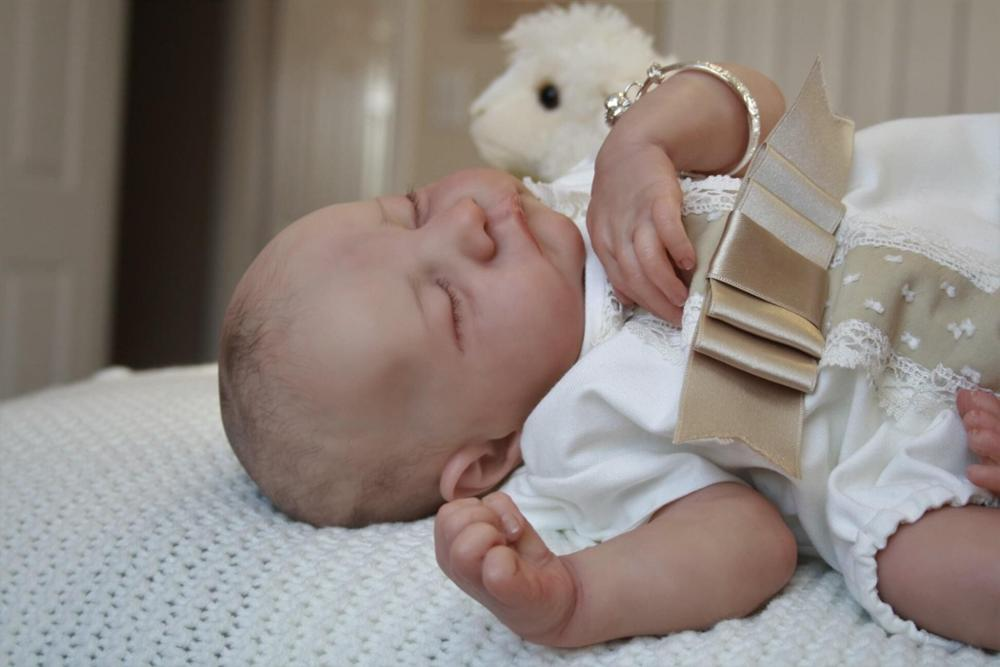 NPK 48CM hand-zeichnung reborn baby puppe Levi premie baby junge haar lebensechte junge lebensechte echt soft-touch kuschelig baby