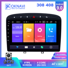 OKNAVI For Peugeot 308 308SW 408 Car Radio 2din Android 9.0 Autoradio Stereo 4G WIFI Bluetooth Dvd Player Support Carplay