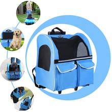 Cat Backpack Stroller Cat-Carrier Double-Shoulder-Bag Travel Small Load 15kg for 2-In-1