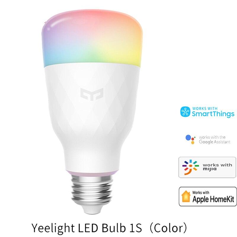 Xiaomi Yeelight 1S Colorful Lamp E27 Smart App Wifi Remote Control Smart Led Light Rgb / Colorful Temperature Romantic Lamp