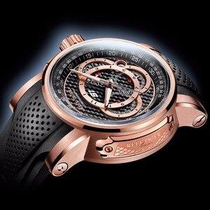 Image 4 - Спортивные часы Reef Tiger/RT от топ дизайнера, мужские кварцевые часы с хронографом из розового золота с датой, RGA3063, 2020