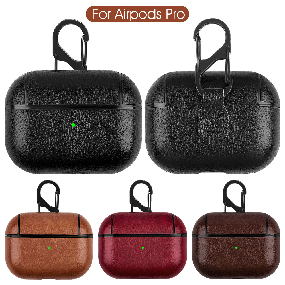 Luxury Leather Bag For Apple AirPods Pro Bluetooth Wireless Earphone Case Cover For AirPods Pro Funda Cover Charging Box Cases