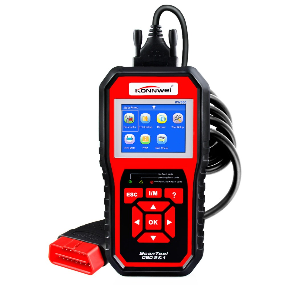 KONNWEI OBD2 Automotive Scanner Fault Code Reader With Multi-language ODB2 Car Diagnostic Tool Auto Scanner BEST OBD 2 KW850 DF