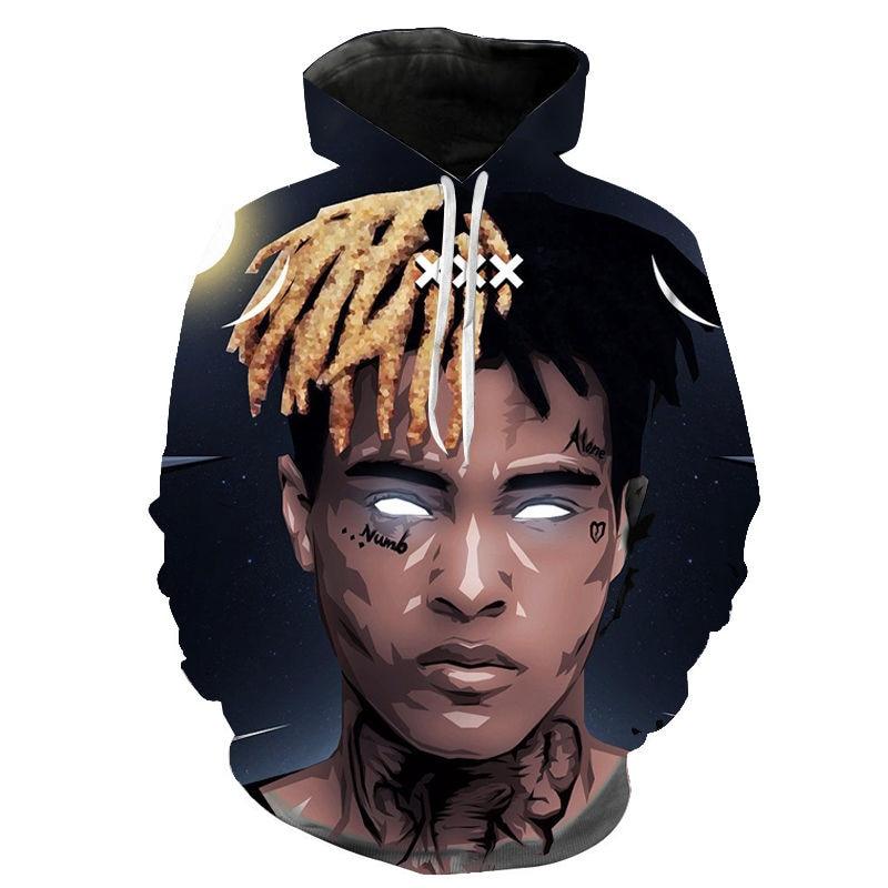 Xxxtentacion Hoodies Men Women Children Sweatshirt Rapper Xxxtentacion Hip Hop Hoodie Streetwear Women Boy/girl Pullover Hooded