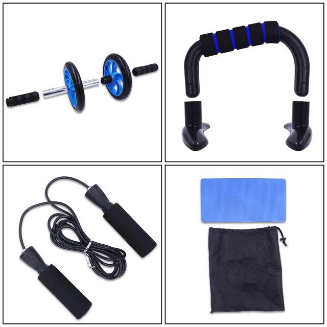 AB Roller Kit Forte Carico-cuscinetto con Push-Up Bar Corda di Salto Knee Pad Palestra di Casa Addominale Core muscolo Esercizio Attrezzature Per Il Fitness 2
