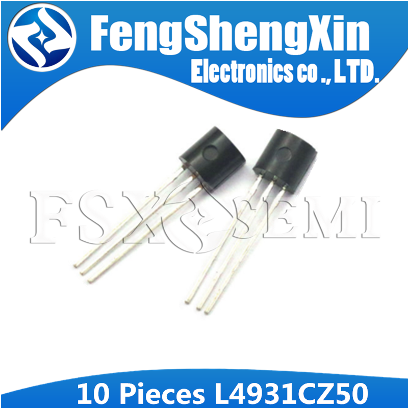 10pcs L4931CZ50 TO92 L4931CZ L4931 TO-92 L4931CZ50-AP    VERY LOW DROP VOLTAGE REGULATORS WITH INHIBIT