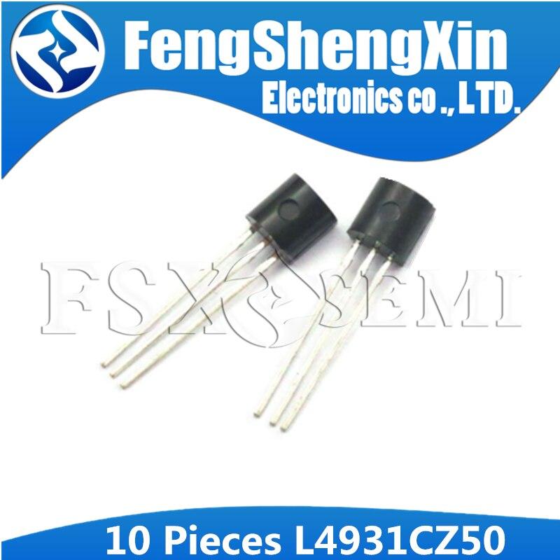 10pcs L4931CZ50 TO92 L4931CZ L4931 TO-92 L4931CZ50-AP    VERY LOW DROP VOLTAGE REGULATORS WITH INHIBIT