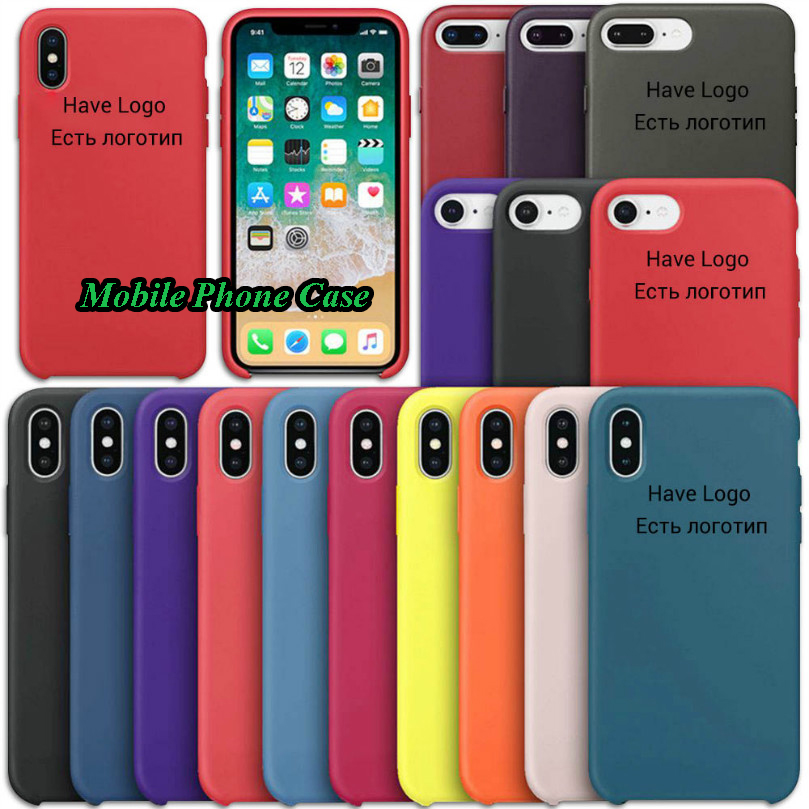 Luxury Original Official LOGO Phone Case For iphone 11 Pro Case For Apple 7 8 6 6s Plus X XR XS MAX Silicone Liquid Cases Cover