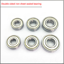10Pcs/set 6200 6201 6202 6203 6204 6205ZZ 6206zz High speed Double sided iron sheet seal for Main bearing of motor