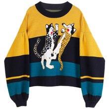Новый короткий пуловер на раннюю осень 2020 весна и трикотаж