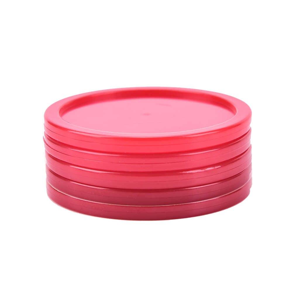 5 個ホットな新高品質子供屋内テーブルゲームプレイおもちゃ赤プラスチックミニエアホッケーテーブルパック耐久性のある実用的な