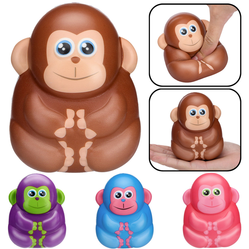 Decoration Decoration Simulation Squishies Toy Kawaii Cartoon Monkey Toy Slow Rising Scented  Stress Relief Toys Gifts L0110