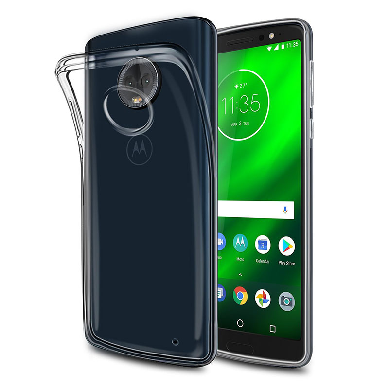 2018 Clear Soft TPU Cases For Motorola Moto G6 Plus Play Phone Case Transparent Silicone Back Cover Motog6 G6play G6plus Gel Bag