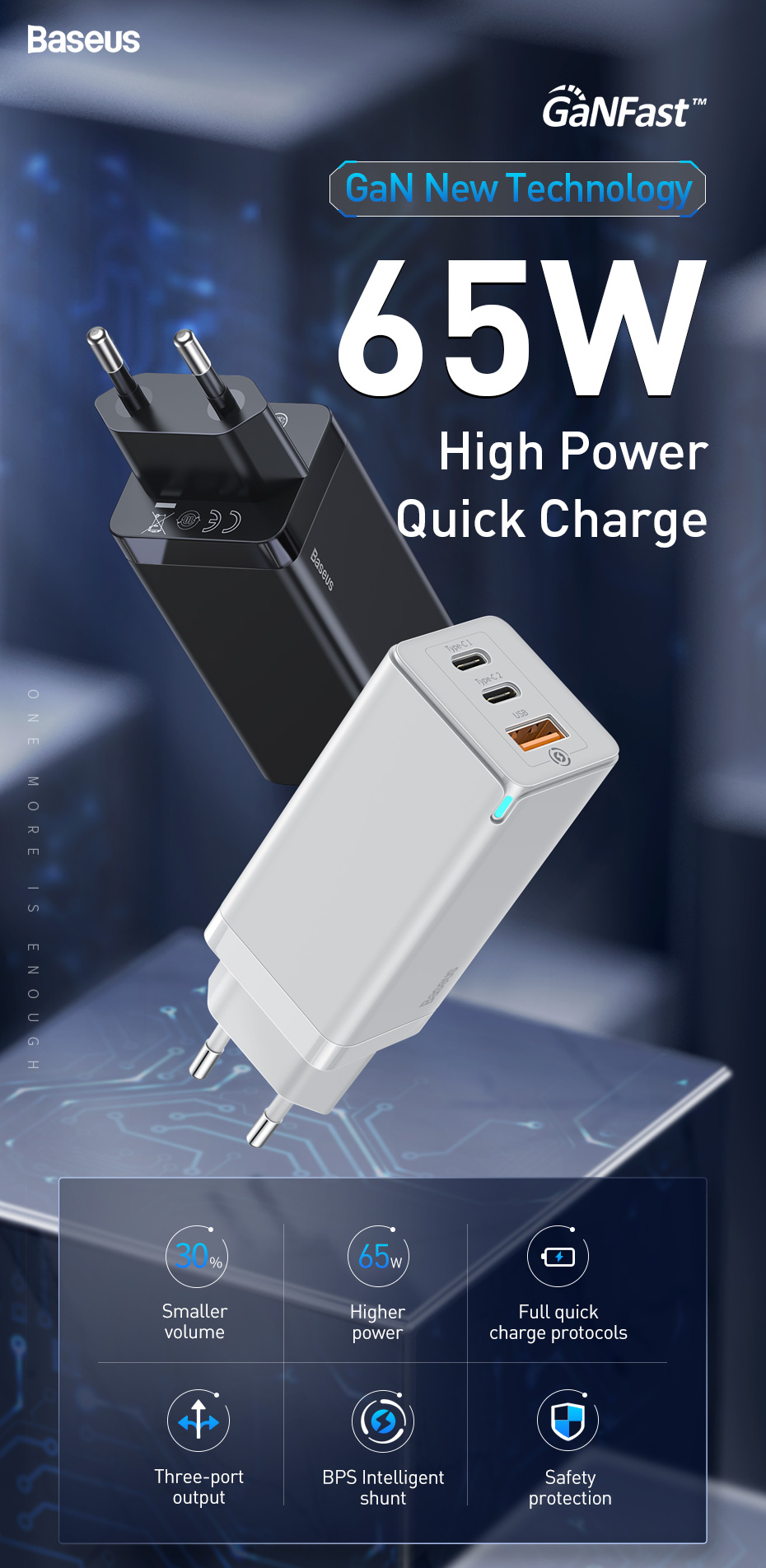 Baseus 65W GaN Charger Quick Charge 5