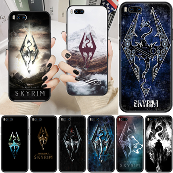 Game Skyrim Phone case For Xiaomi Mi Max Note 3 A2 A3 8 9 9T 10 Lite Pro Ultra black pretty back fashion cell cover art hoesjes image