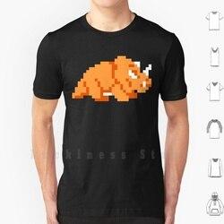 Dodongo t camisa tamanho grande 100% algodão jogos de vídeo pixelart pixel arte sprite sprites retro clássico do vintage jogo gamer jogos
