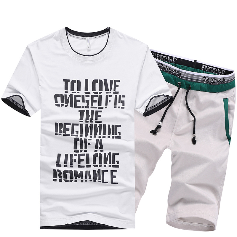 2019 Summer New Products MEN'S Short-sleeved T-shirt Hot Selling Set Men Sports Running Fitness Suit Men's