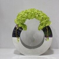 U Shape Stainless Steel Vase Metal Flower Vase L30*w6*h24cm Gold/silver