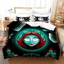 W Nightmare Before Christmas 3d pościel z nadrukiem zestaw Cartoon kołdra zestaw osłon z poszewki na poduszki 2 3 sztuk podwójne pełne królowa duży rozmiar tanie tanio Brak Zestawy poszew na kołdry CN (pochodzenie) Poliester Bawełna 1 0 m (3 3 stóp) 1 2 m (4 stóp) 1 35 m (4 5 stóp)