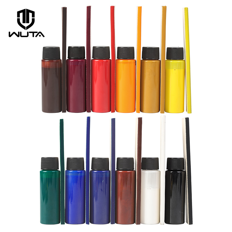 WUTA Italy Imported 3x30ml Matte Leather Finish Professional Edge Painting Oil Dye Low-Gloss Leather Craft DIY 12Color Available