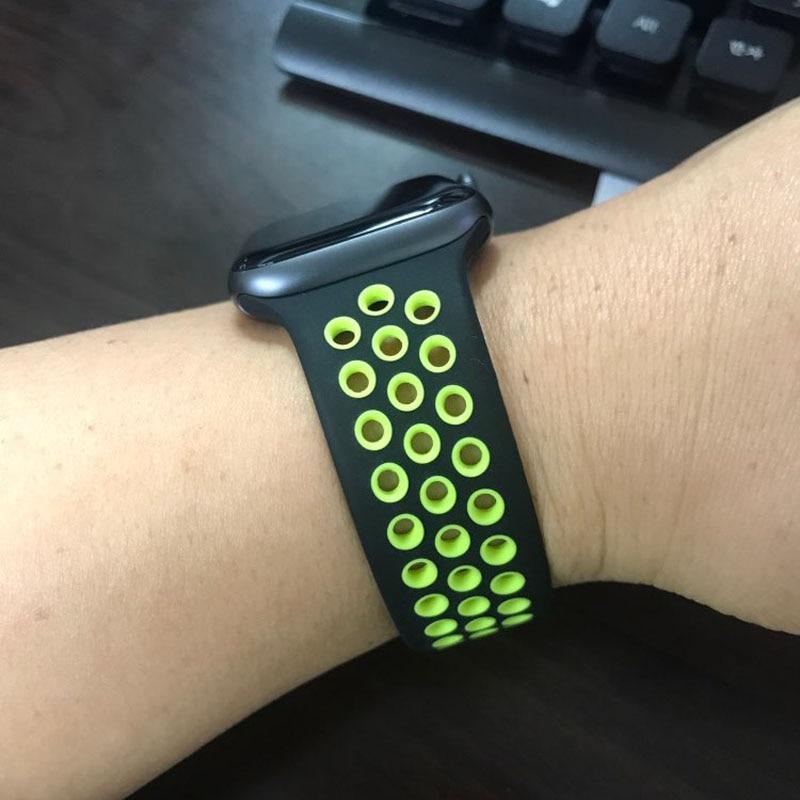 Silikonband für apple armband 42mm 38mm ersetzen armband iwatch - Uhrenzubehör - Foto 3