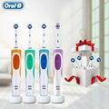 Oral B Vitality cepillo de dientes eléctrico 2 minutos temporizador de precisión limpia recargable OralB dientes cabezales de cepillo 3D blanco reemplazo