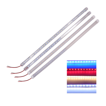 5054 12V LED Bar Light Aluminium U Profile 25cm 50cm LED Hard Strip Rigid Lights Bar Kitchen Under Cabinet Lighting 1-20pcs 5 10 20pcs super bright ac220v led bar light 2835 hard rigid bar light smd 2835 30cm 12 led aluminum led strip light for cabinet