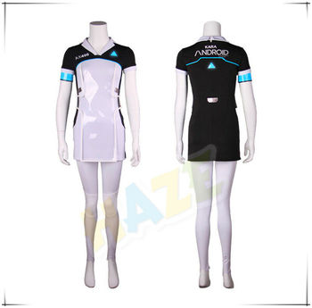 Game Detroit: Become Human Kara Code AX400 Cosplay Costume Womens Dress Halloween for Adult