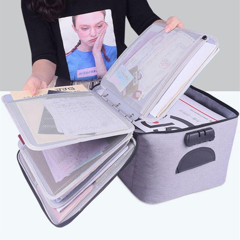 Belge organizatörü saklama çantası kutuları kutuları sepetleri çekmece konteyner ev depolama organizasyon aksesuarları malzemeleri