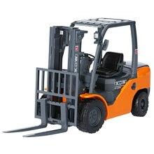 Nova kdw 1/20 modelo de carro empilhadeira caminhão liga modelo de caminhão forquilha veículo modelo de engenharia carro metal forquilha brinquedo presente do menino