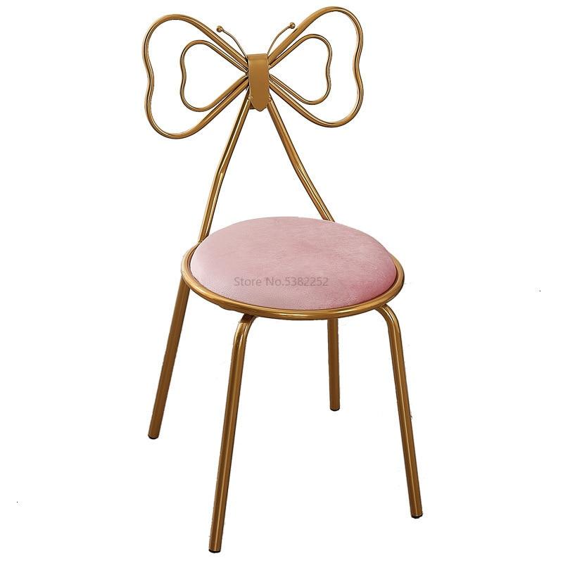 Makeup Stool European Modern Beautiful First Stool Makeup Chair Dressing Bench Iron Art Dressing Chair Backrest Makeup Stool
