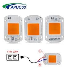 COB Led Grow Light Lamp Chip Full Spectrum 220V 110V 20W 30W 50W 380-780nm Phyto Lamp