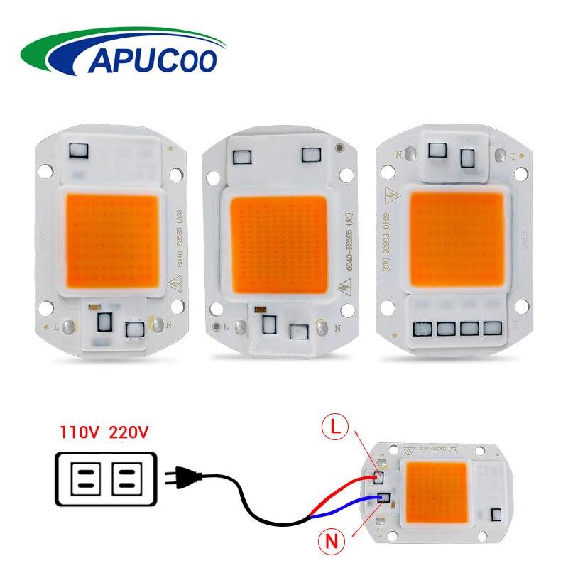 COB Led Grow Light Lamp Chip Full Spectrum 220V 110V 20W 30W 50W 380-780nm Phyto Lamp For Indoor Plant Seedling Flower Fitolampy(China)